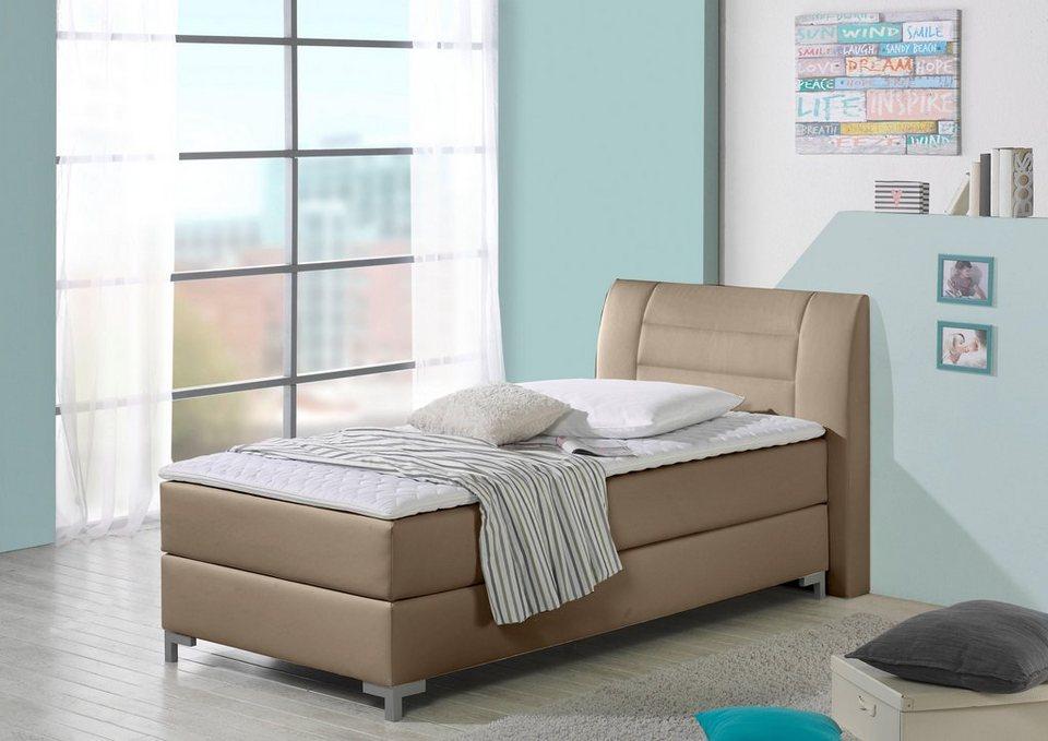 maintal boxspringbett inkl topper polsterkopfteil mit dekorativen steppungen online kaufen otto. Black Bedroom Furniture Sets. Home Design Ideas