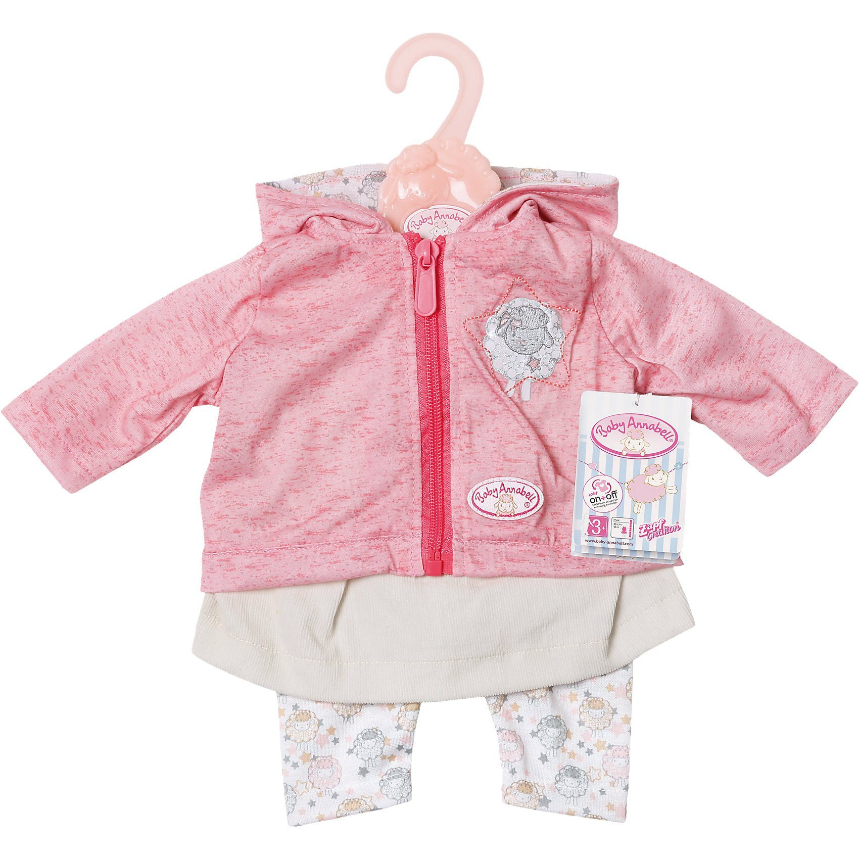 Zapf Creation® Baby Annabell® Puppenkleidung Outfit mit Jacke, 46 cm