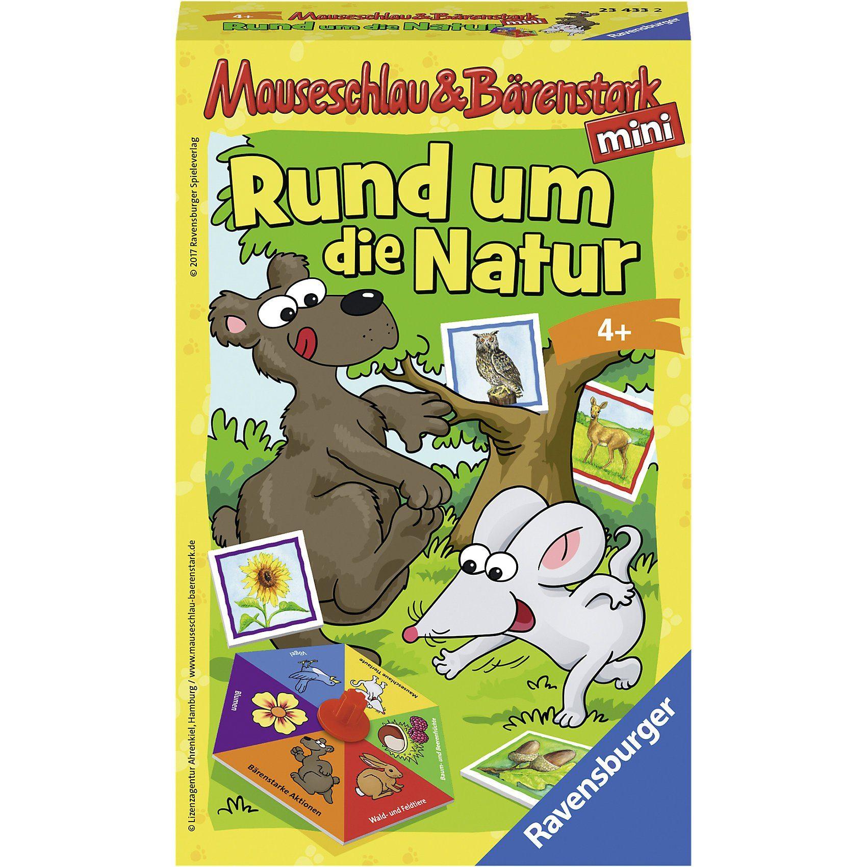 Ravensburger Mitbringspiel Mauseschlau und Bärenstark - Rund um die Natur