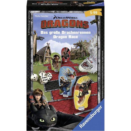 Ravensburger Mitbringspiel Dragons: Das große Drachenrennen