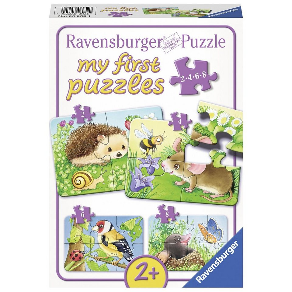 ravensburger my first puzzle puzzleset 2 4 6 8 teile s e gartenbewohner online kaufen otto. Black Bedroom Furniture Sets. Home Design Ideas