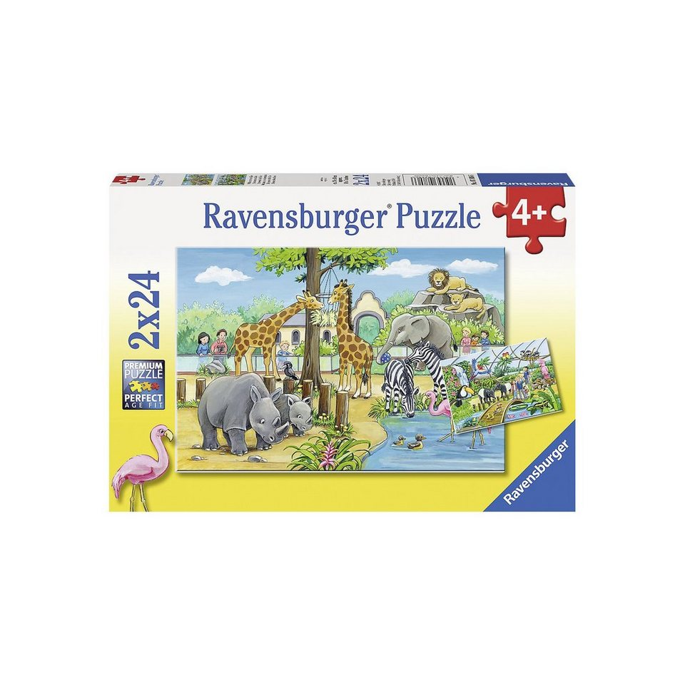 Ravensburger Puzzle 2 x 24 Teile Willkommen im Zoo