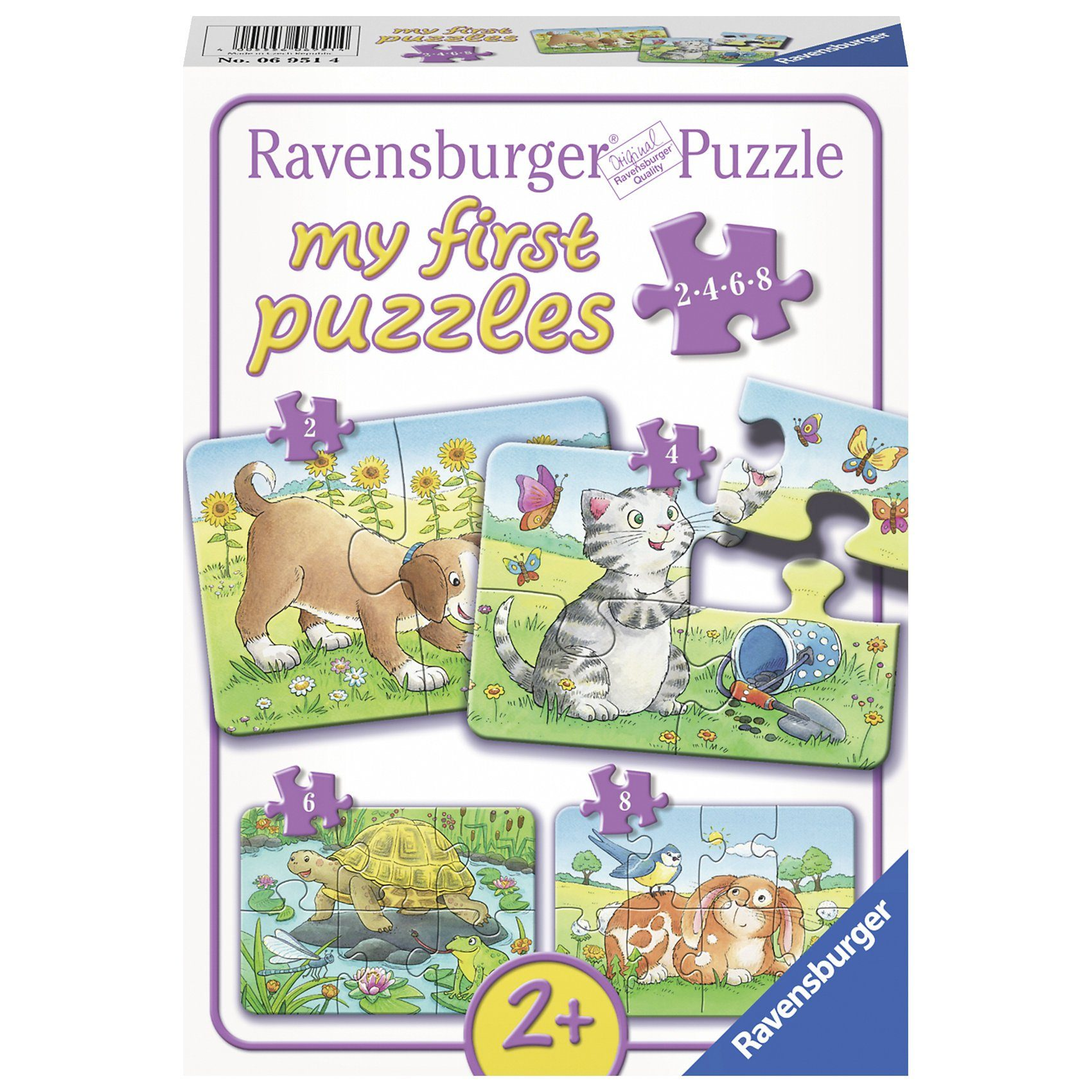 Ravensburger my first Puzzle Puzzleset 2,4,6,8 Teile Niedliche Haustiere