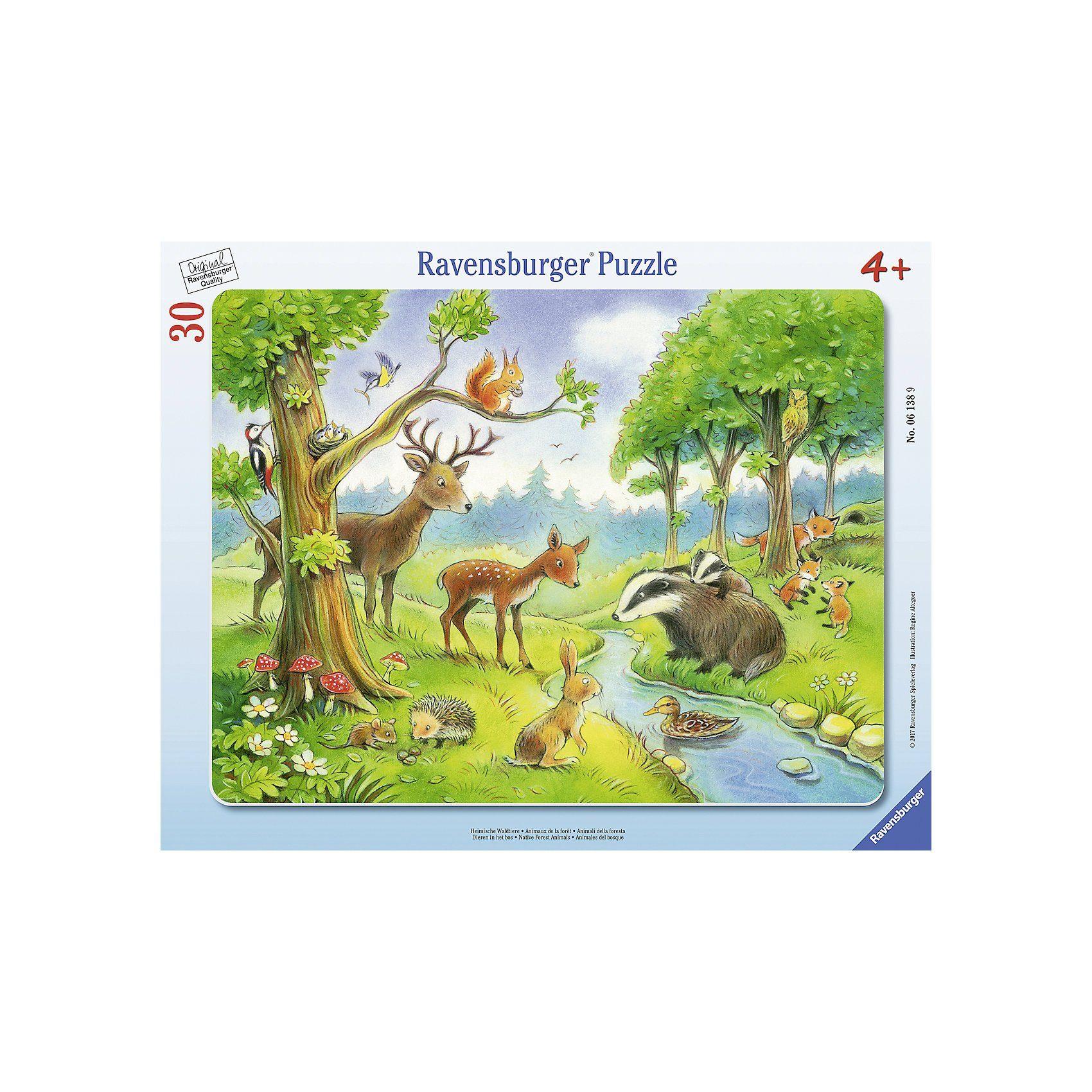 Ravensburger Rahmenpuzzle 30 Teile Heimische Waldtiere
