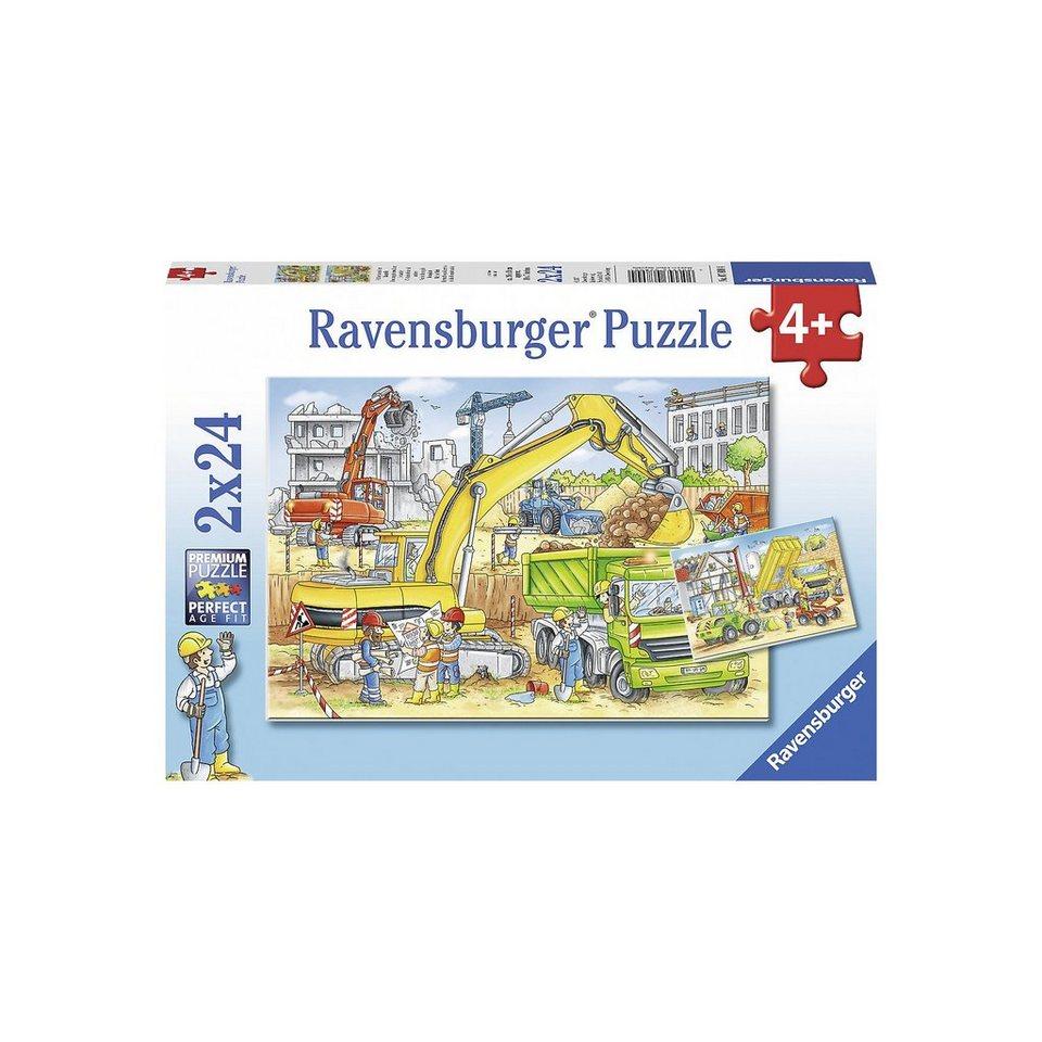 Ravensburger Puzzle 2 x 24 Teile Viel zu tun auf der Baustelle online kaufen
