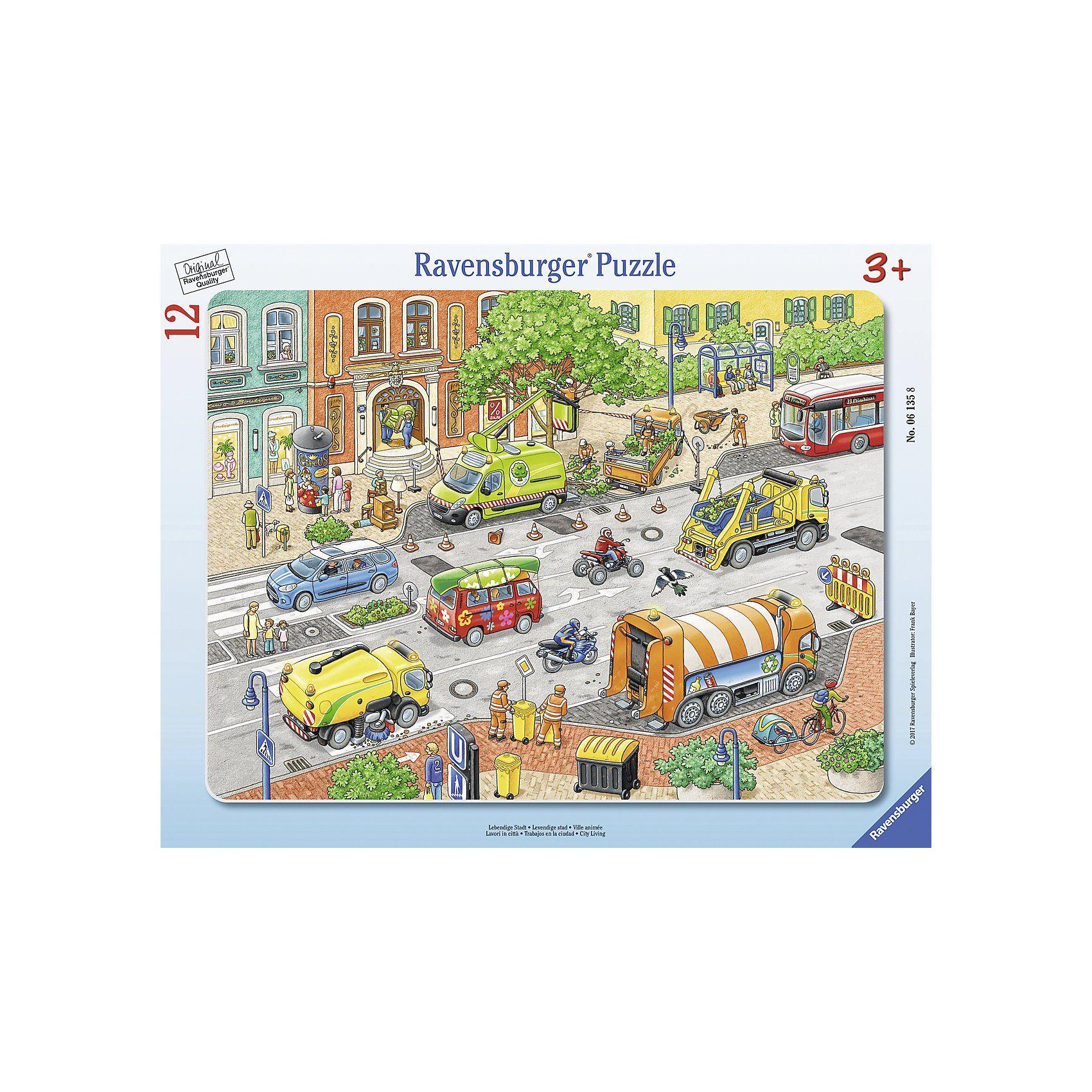 Ravensburger Rahmenpuzzle 12 Teile Lebendige Stadt