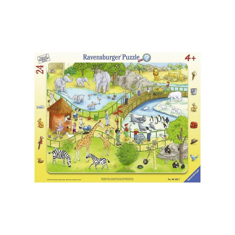 Ravensburger Rahmenpuzzle 24 Teile Viel Spaß im Zoo online kaufen | OTTO