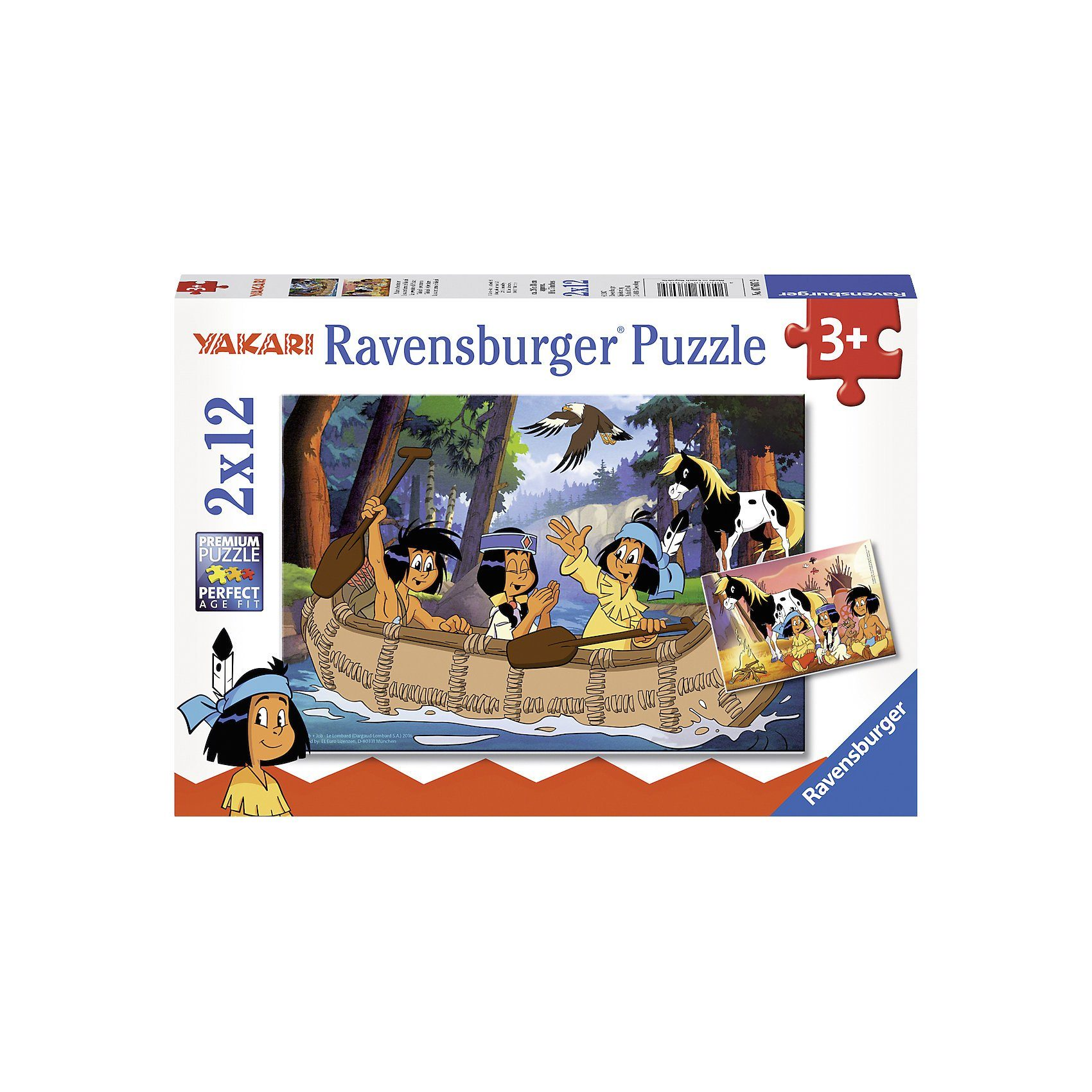 Ravensburger Puzzle 2 x 12 Teile Yakaris Abenteuer