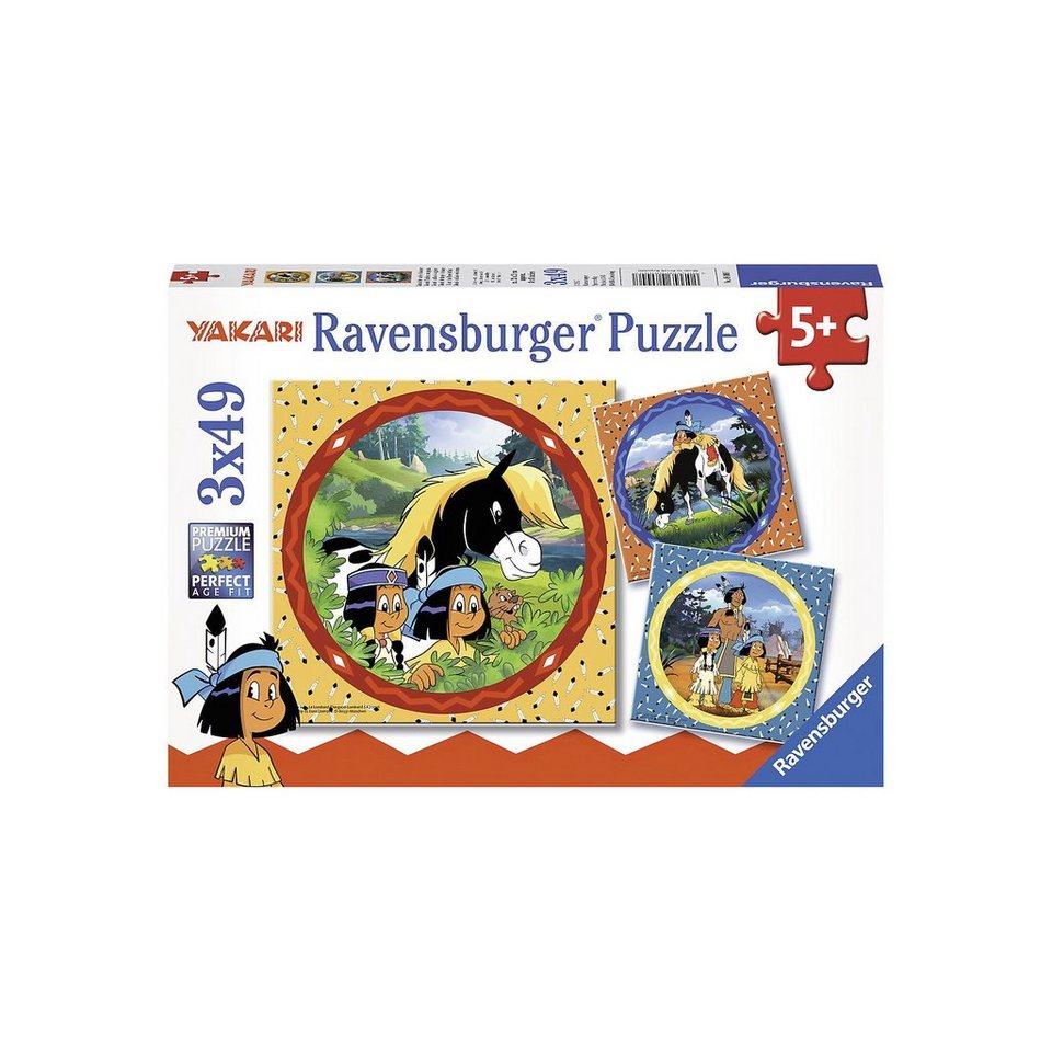 Ravensburger Puzzle 3 X 49 Teile Yakari, tapferer Indianer online kaufen