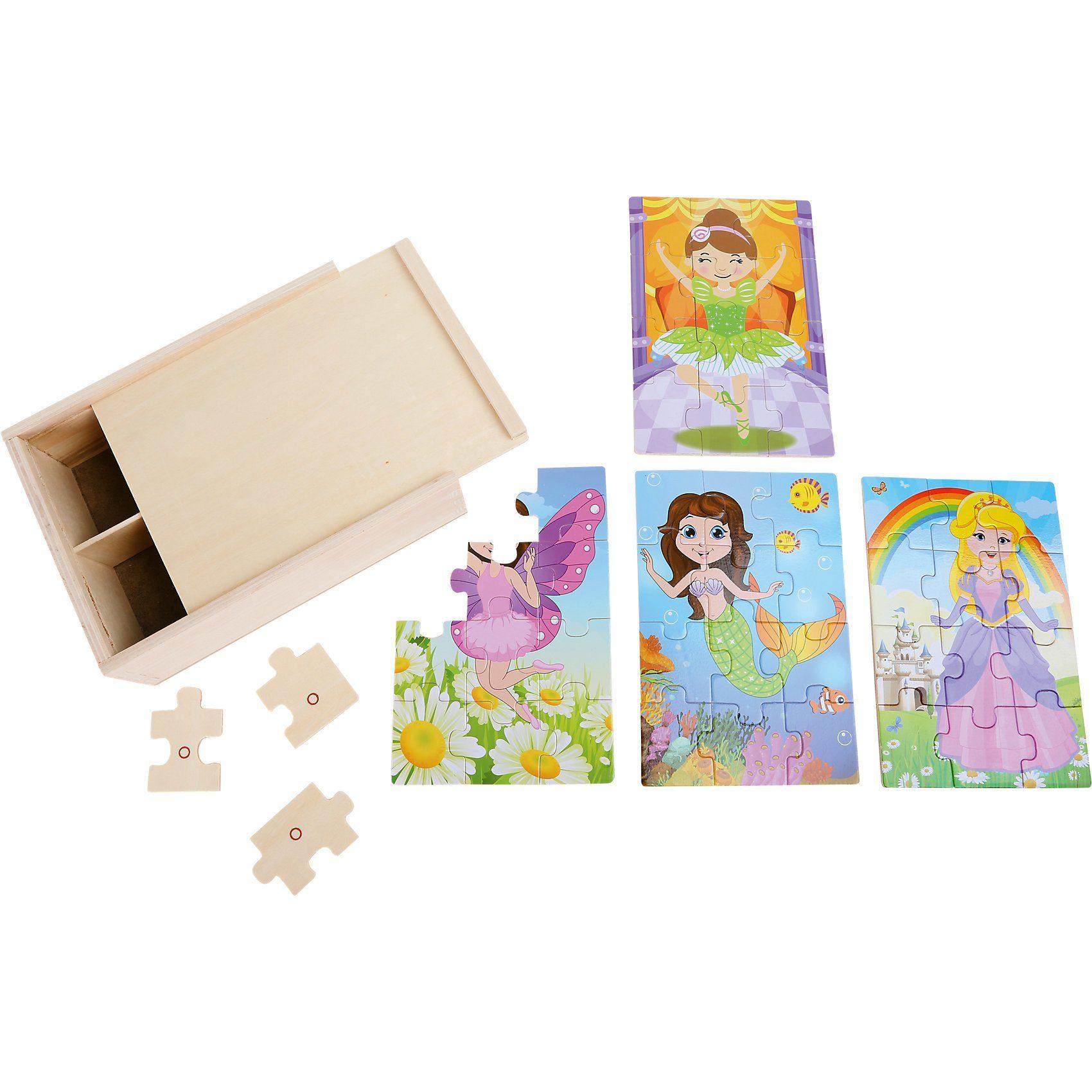 Puzzle-Box 4 in 1 Mädchen im Kostüm