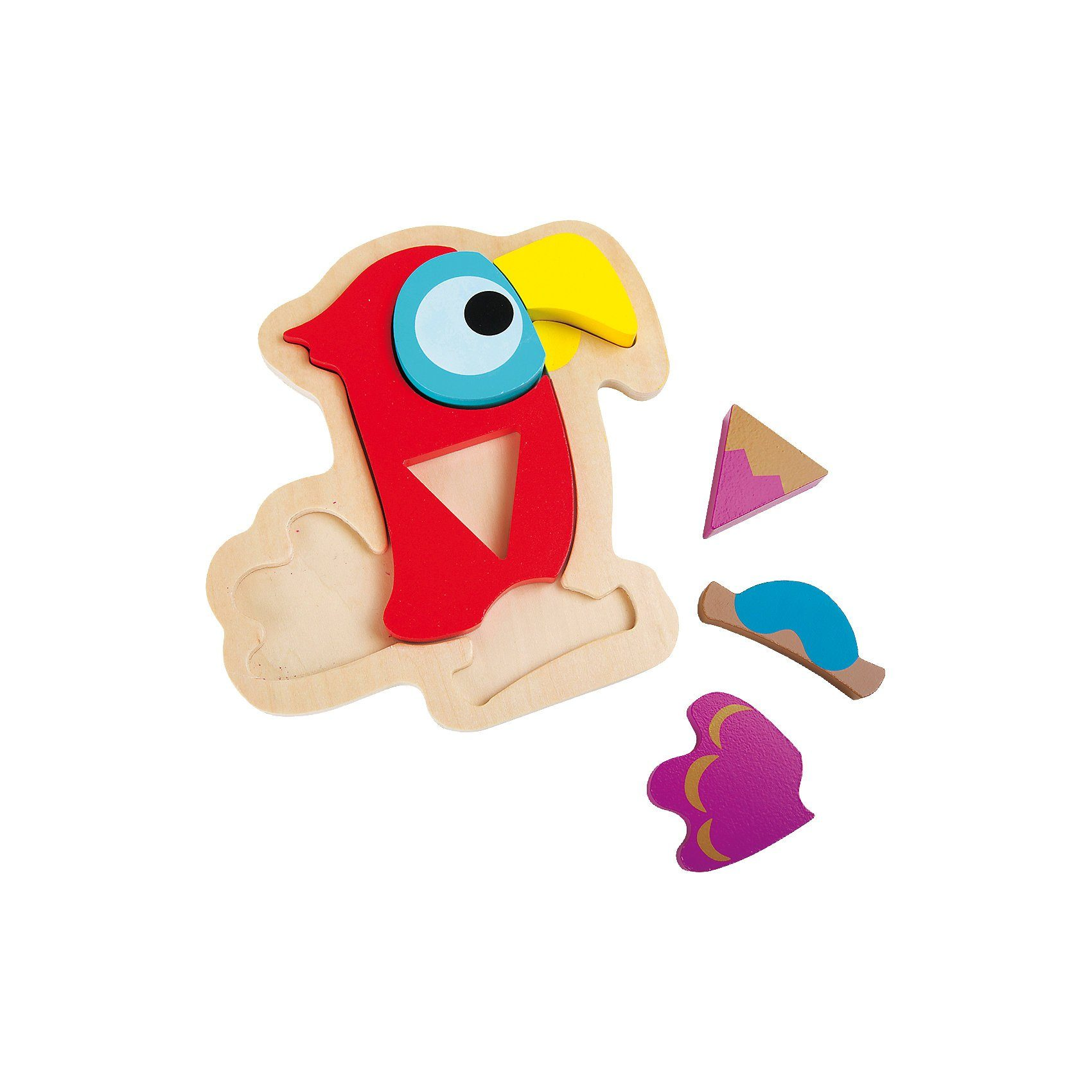 Legler Holzpuzzle Papagei