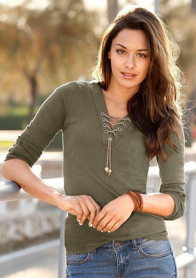 classic inspirationen shirt mit schn rung am dekollet online kaufen otto. Black Bedroom Furniture Sets. Home Design Ideas