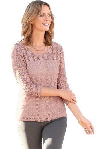 Ambria Shirt femininem Blümchen-Muster