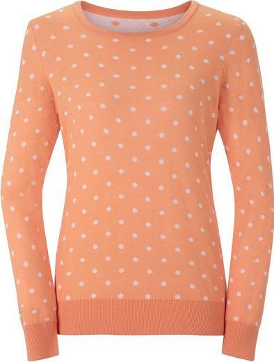 Classic Basics Pullover mit hellen Tupfen