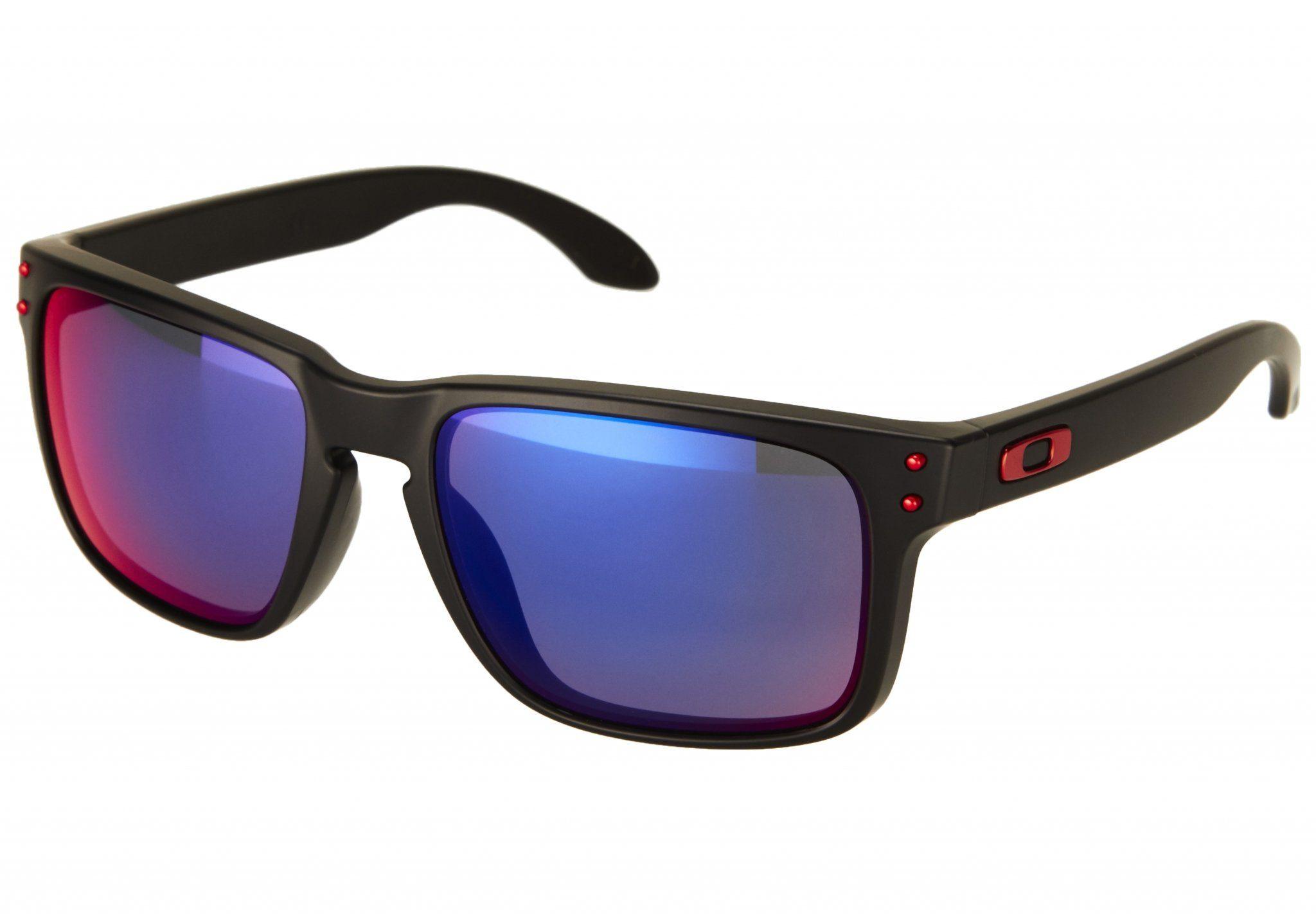 Oakley Radsportbrille »Holston Sunglasses«, schwarz, schwarz