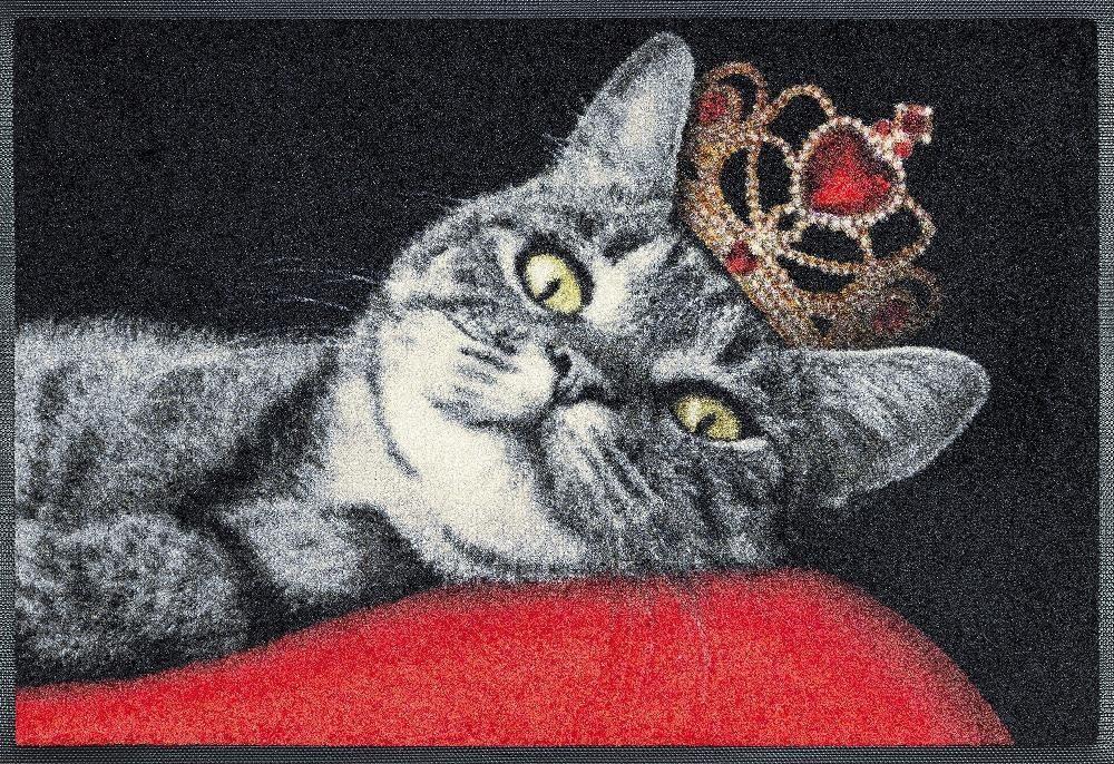 Fußmatte »Royal Cat«, wash+dry by Kleen-Tex, rechteckig, Höhe 7 mm