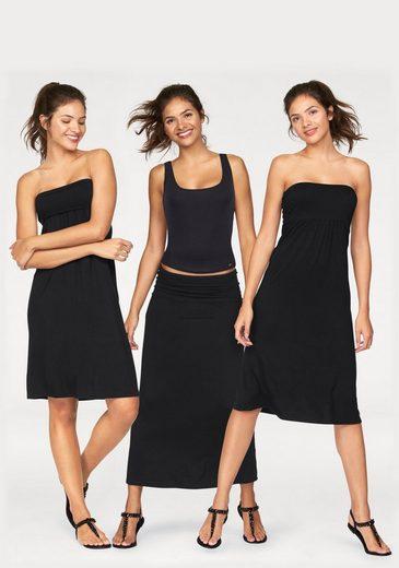 AJC A-Linien-Kleid, 3 in 1 Variante uni oder bedruckt