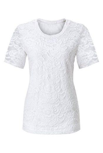 Fair Lady Spitzen-Shirt mit leicht transparenten Ärmel