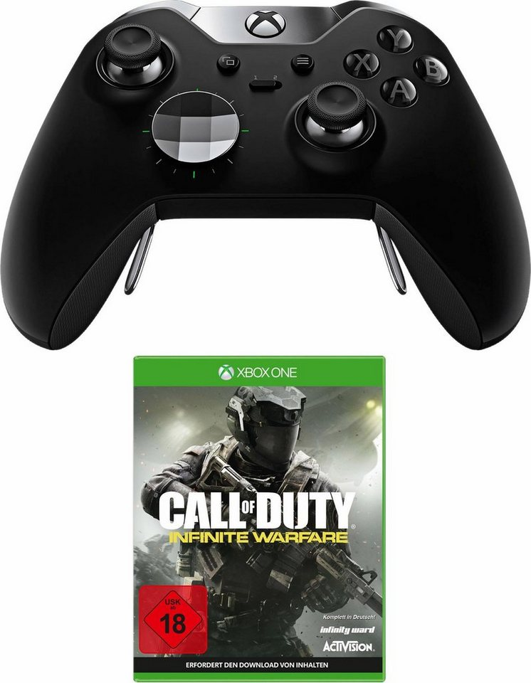 Xbox One Elite Controller + Call of Duty Infinite Warfare in Schwarz