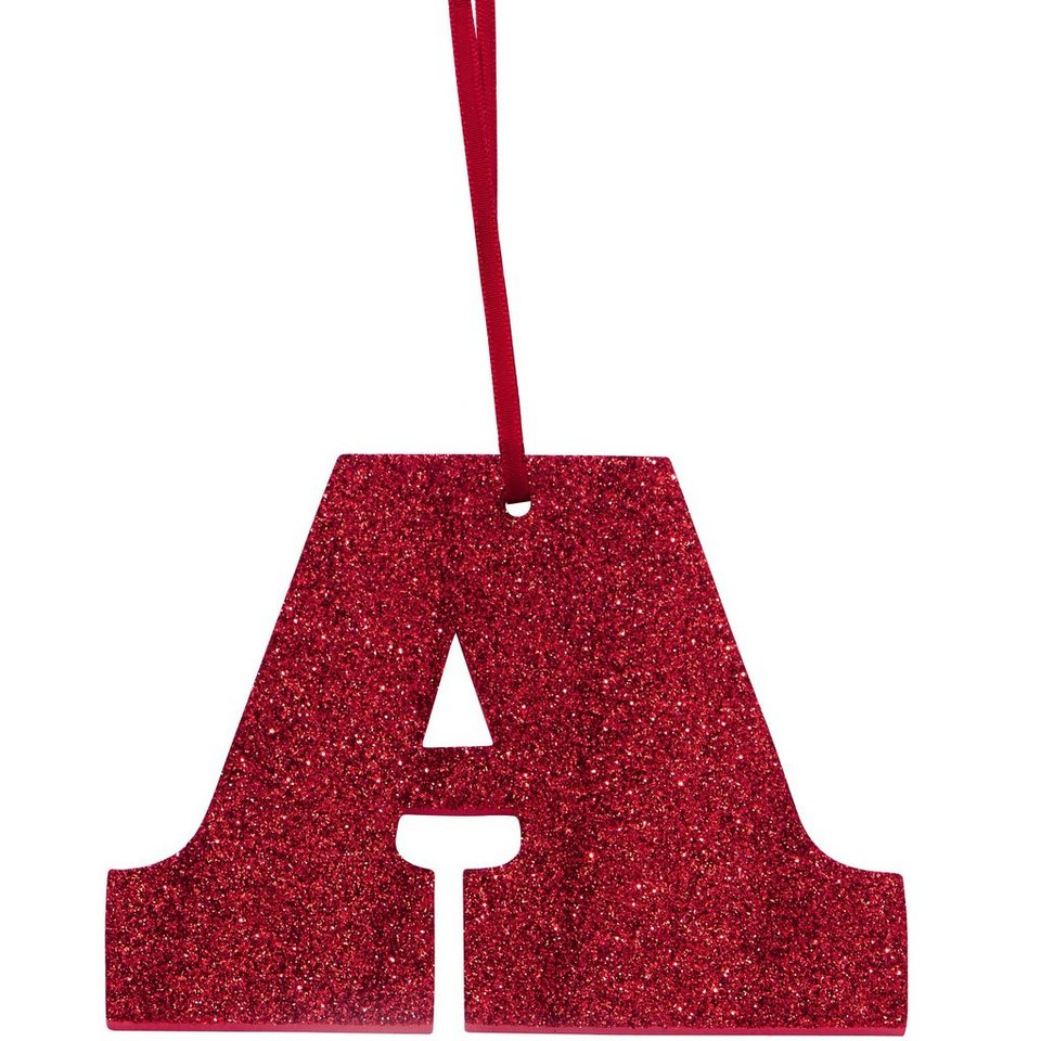 """BUTLERS HAPPY GIFT »Glitzerbuchstabe """"A""""« in rot"""