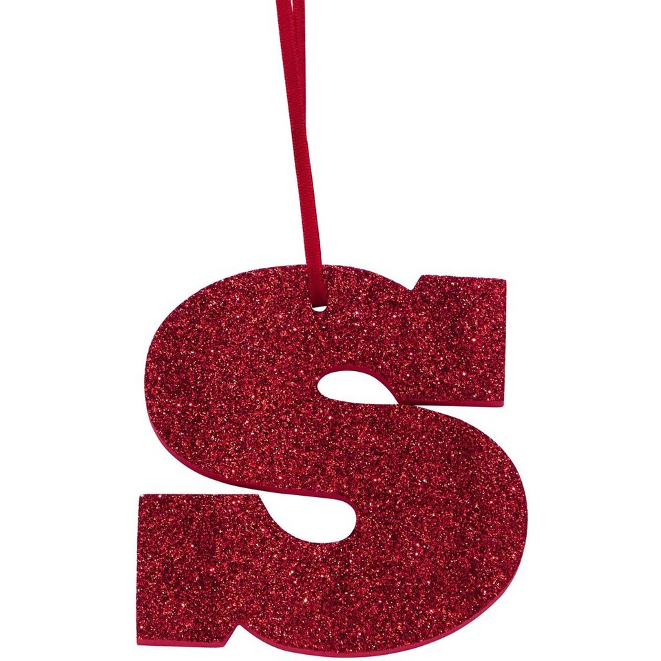 "BUTLERS HAPPY GIFT »Glitzerbuchstabe ""S""« in rot"