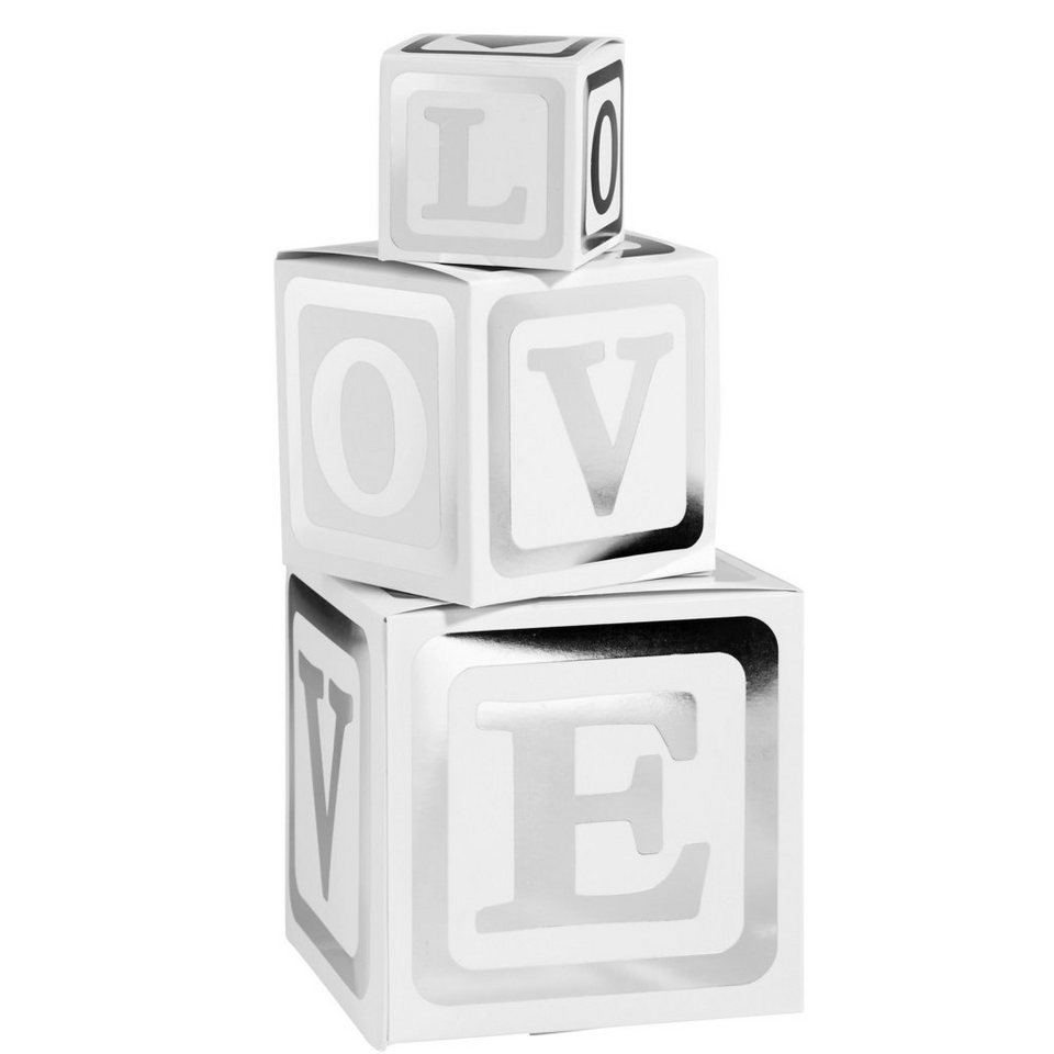BUTLERS LOVE LETTERS »Box 3er Set« in weiss-silber