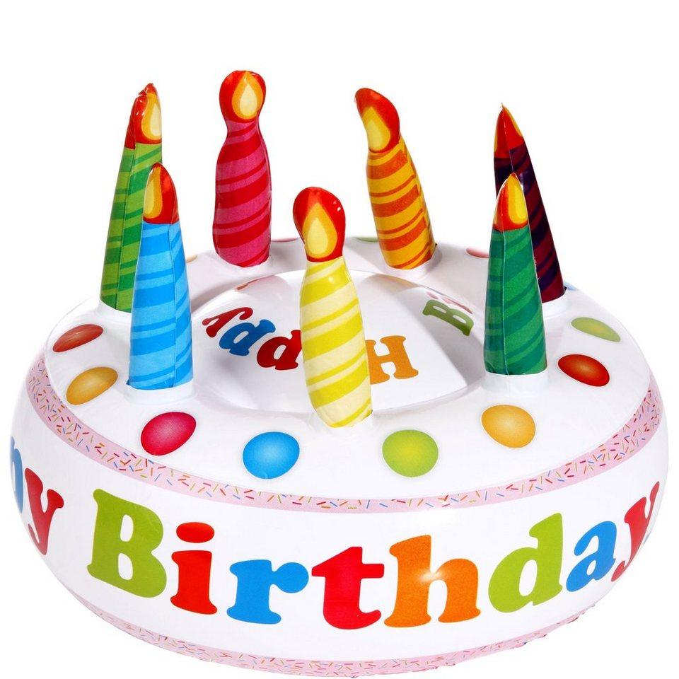 BUTLERS INFLATABLE CAKE »Happy Birthday aufblasbare Torte« in bunt