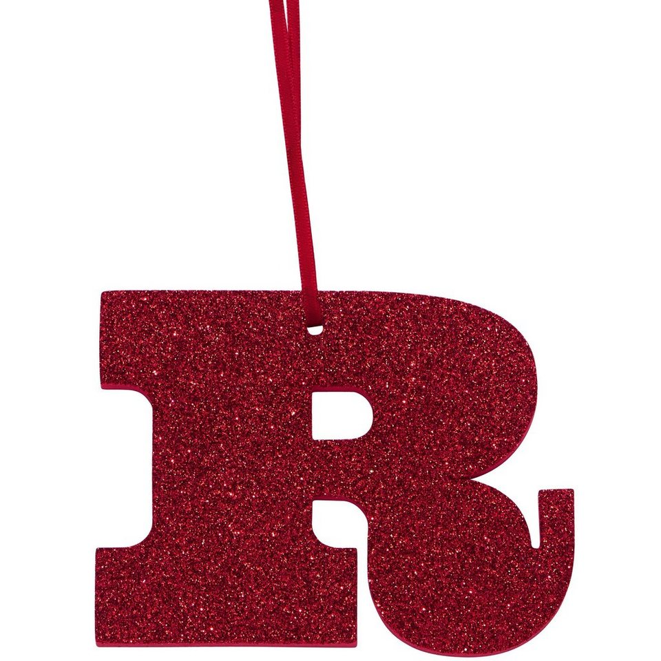 "BUTLERS HAPPY GIFT »Glitzerbuchstabe ""R""« in rot"