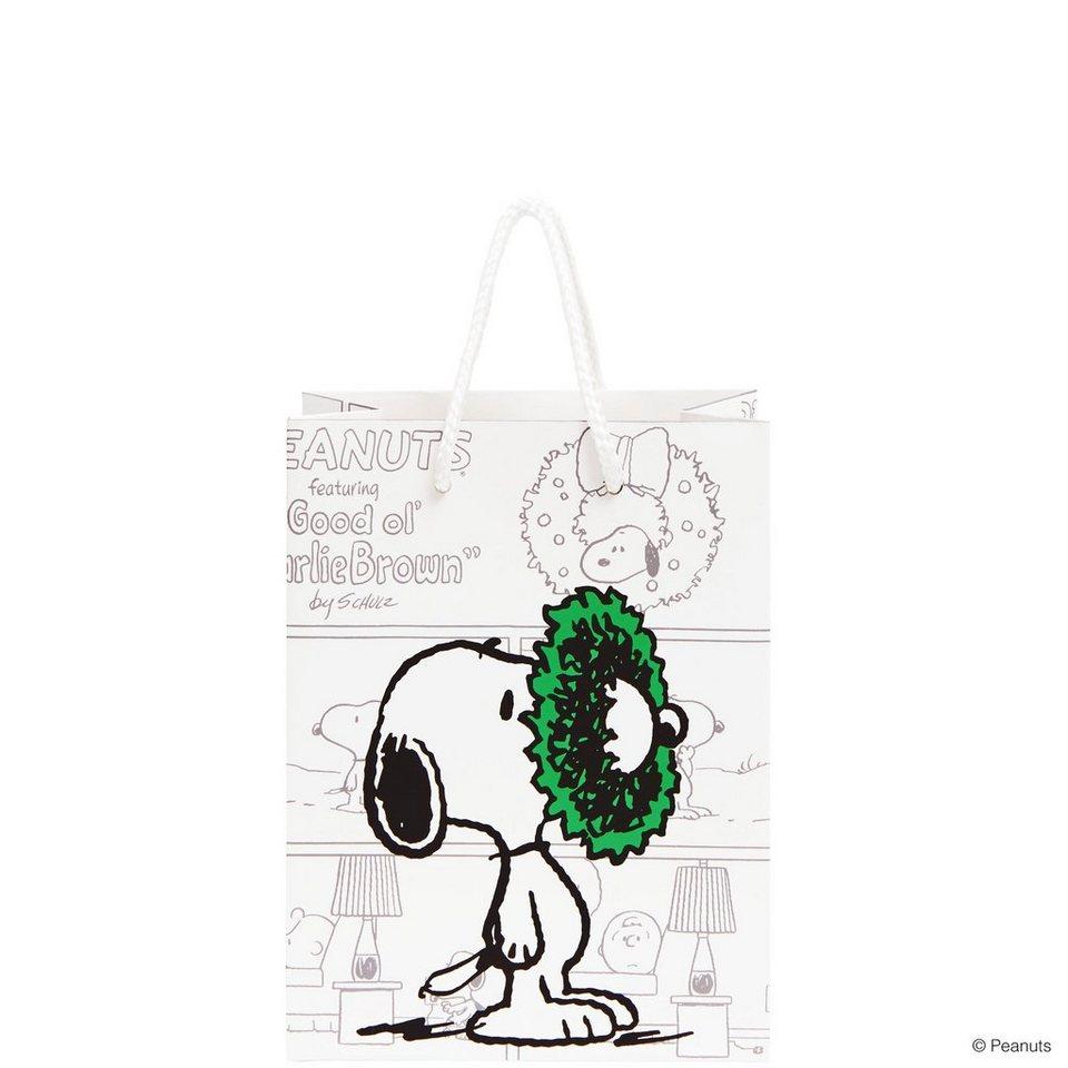 BUTLERS PEANUTS »Geschenktasche Snoopy klein« in weiss