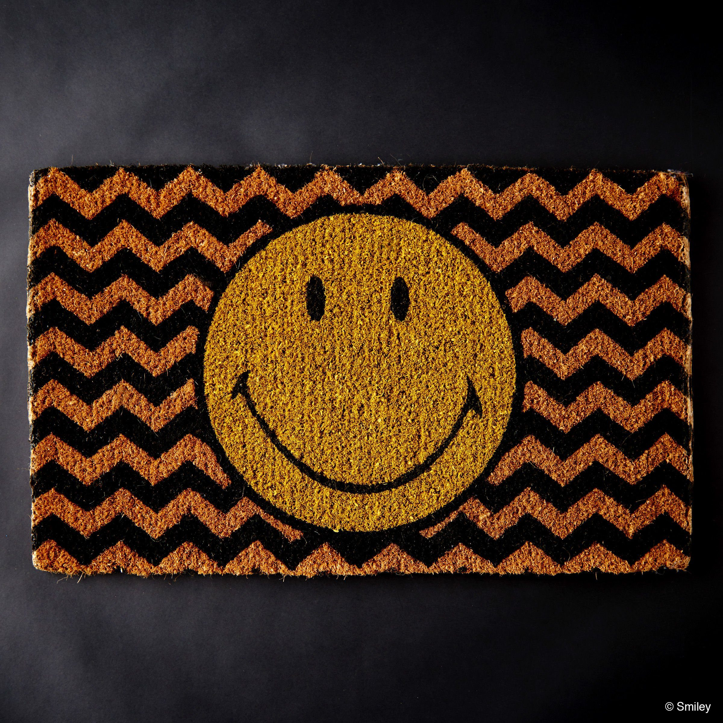 BUTLERS SMILEY »Fußmatte Smiley Wellen«
