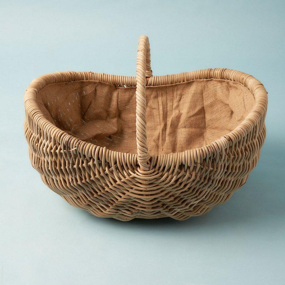 BUTLERS MOSES »Rattankorb mit Bügel« in braun