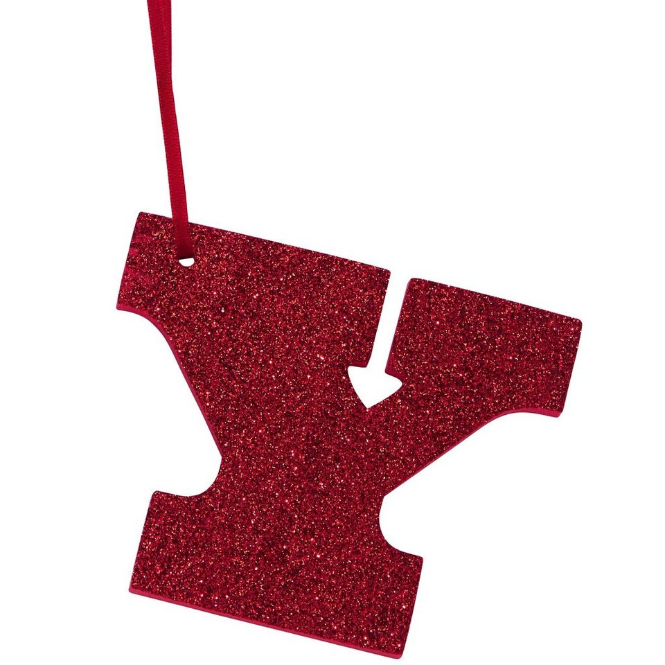 "BUTLERS HAPPY GIFT »Glitzerbuchstabe ""Y""« in rot"