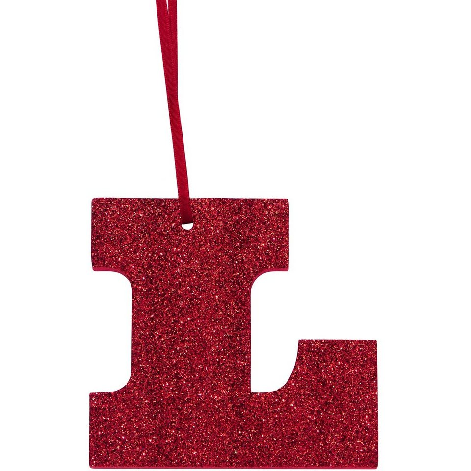"""BUTLERS HAPPY GIFT »Glitzerbuchstabe """"L""""« in rot"""