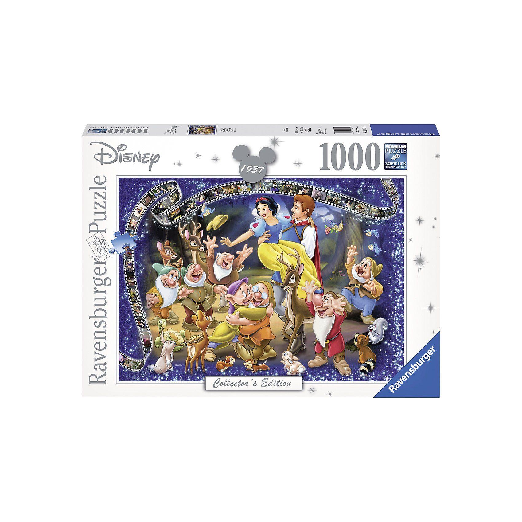 Ravensburger Puzzle 1000 Teile, 70x50 cm, Walt Disney Schneewittchen
