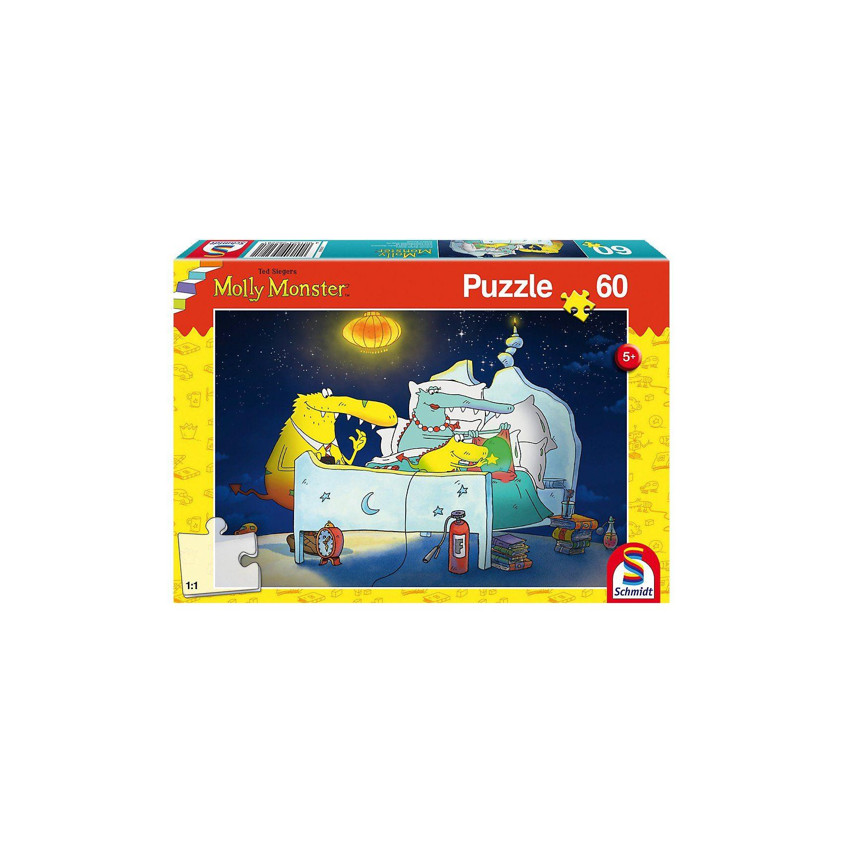 Schmidt Spiele Puzzle 60 Teile Molly Monster bekommt ein Geschwisterchen