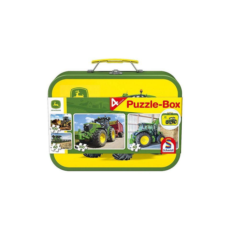 Schmidt Spiele Puzzlekoffer 2 x 60 + 2 x 100 Teile John Deere online kaufen