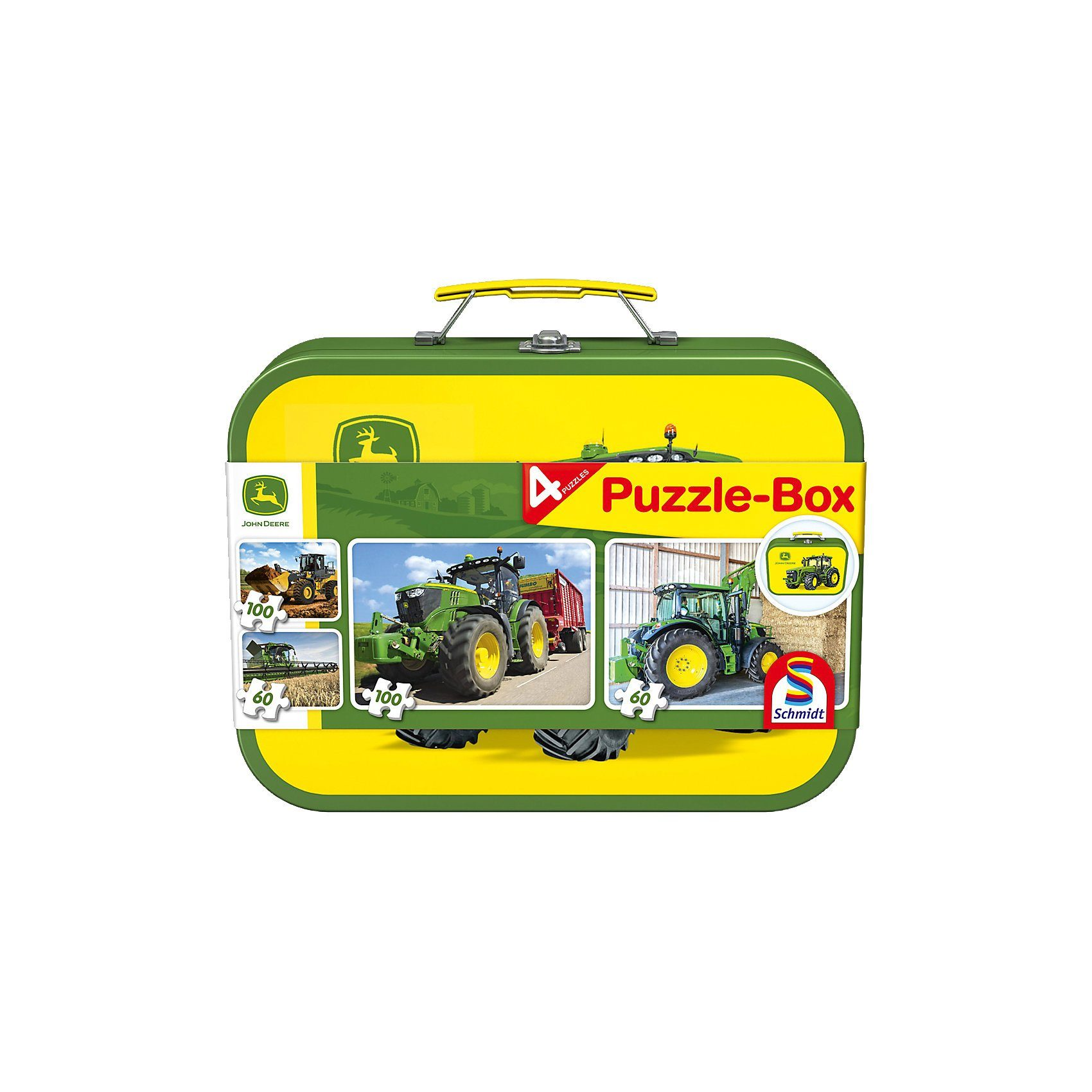 Schmidt Spiele Puzzlekoffer 2 x 60 + 2 x 100 Teile John Deere