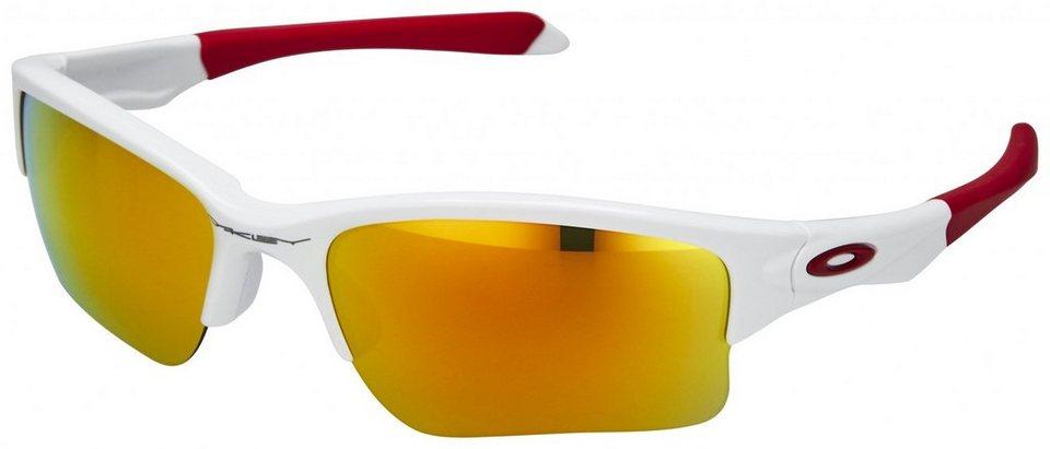 Oakley Radsportbrille »Quarter Jacket« in weiß