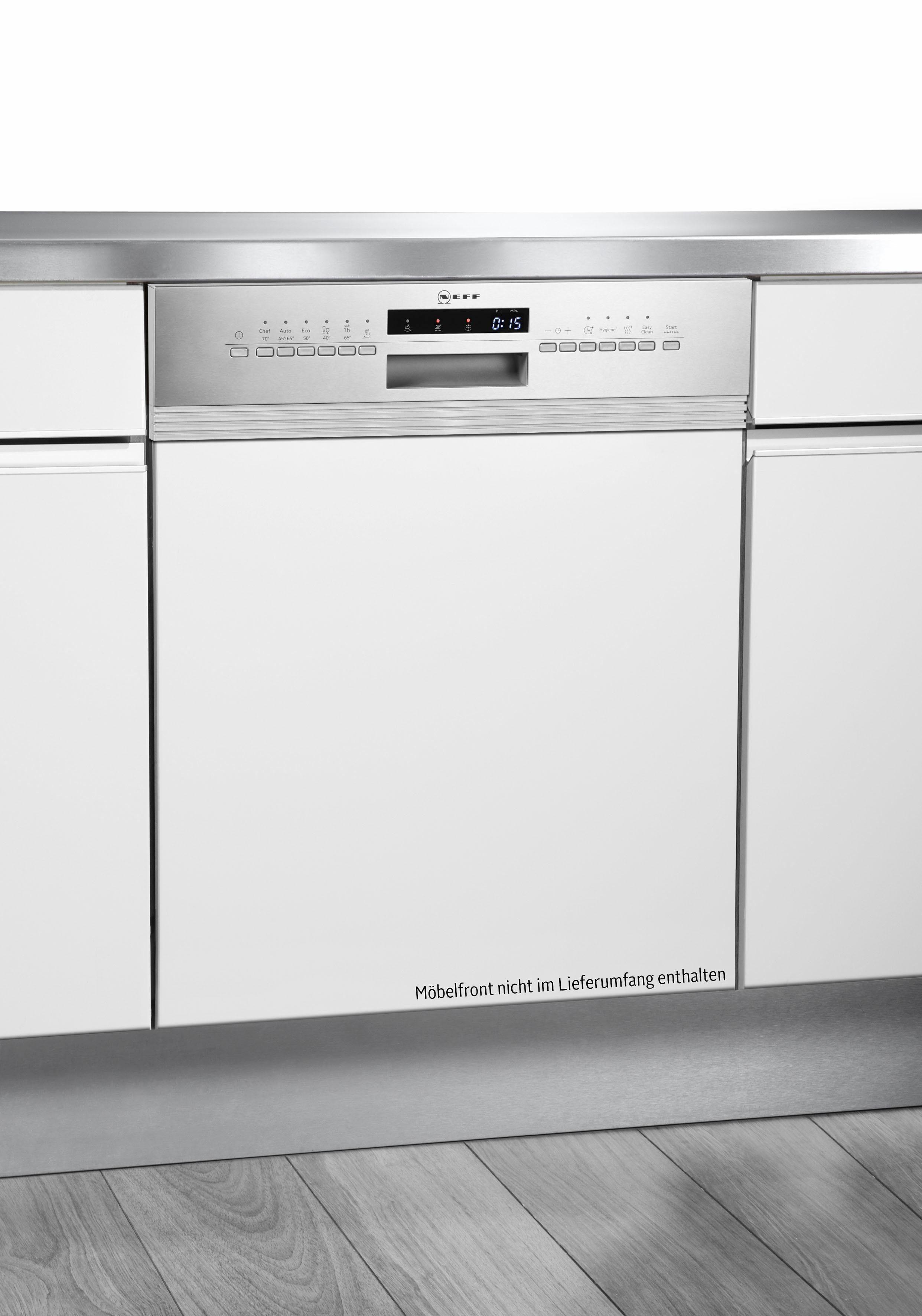 NEFF Teilintegrierbarer Geschirrspüler S413G60S0E, A++, 9,5 Liter, 12 Maßgedecke
