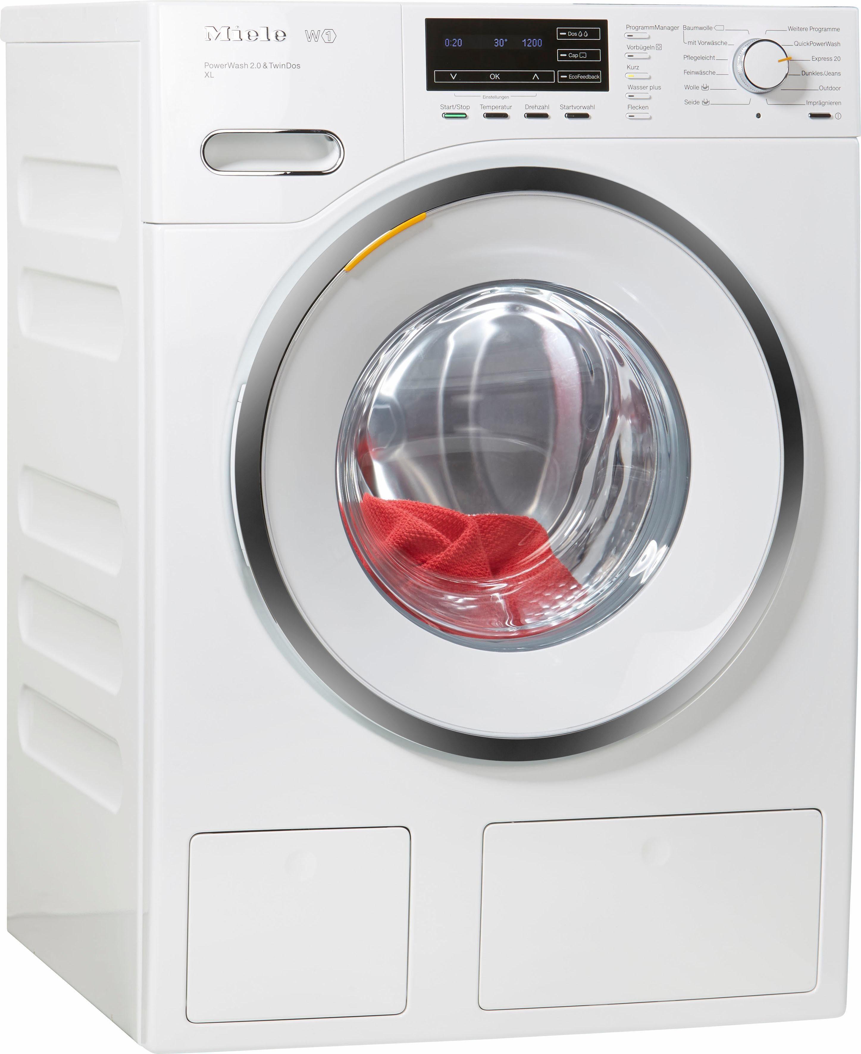 Miele Waschmaschine WMH122WPS D LW PWash 2.0 & TDos XL, 9 kg, 1600 U/Min