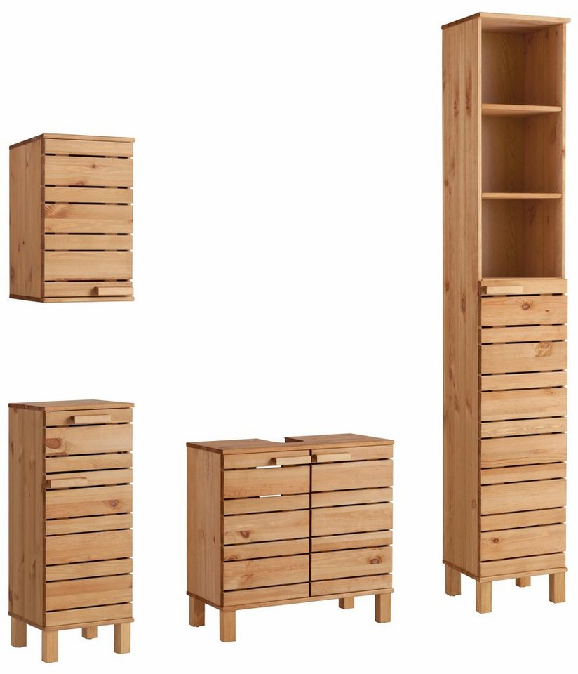welltime badm bel set jossy 4 tlg aus massivholz online kaufen otto. Black Bedroom Furniture Sets. Home Design Ideas