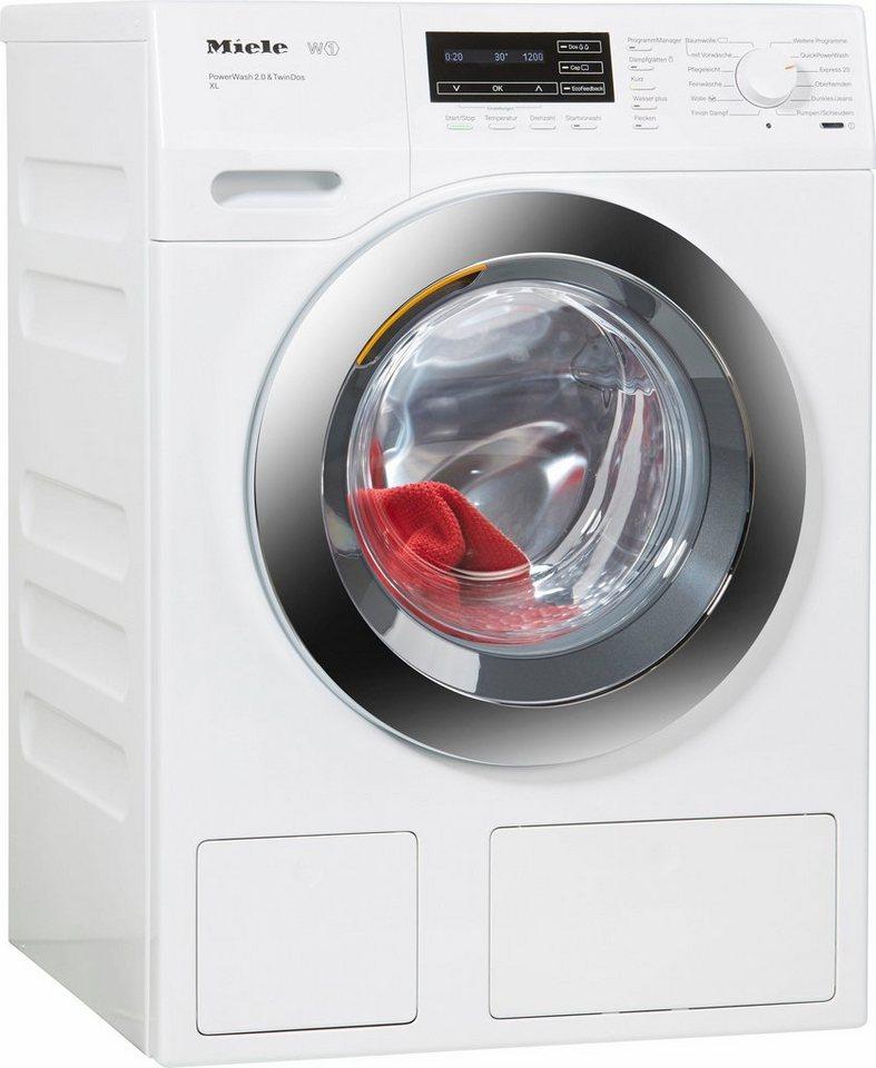 MIELE Waschmaschine WKH272WPS D LW PWash 2.0 & TDos XL, A+++, 9 kg, 1600 U/Min in weiß