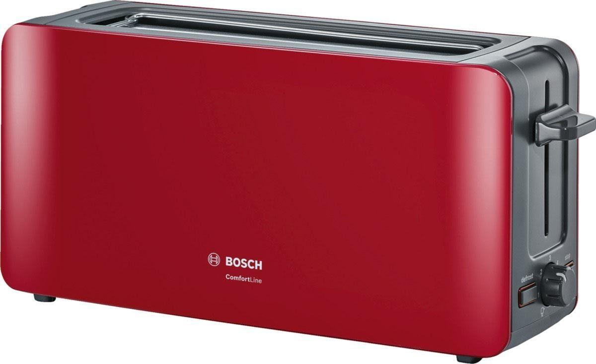 Bosch Langschlitz-Toaster ComfortLine TAT6A004, rot-anthrazit