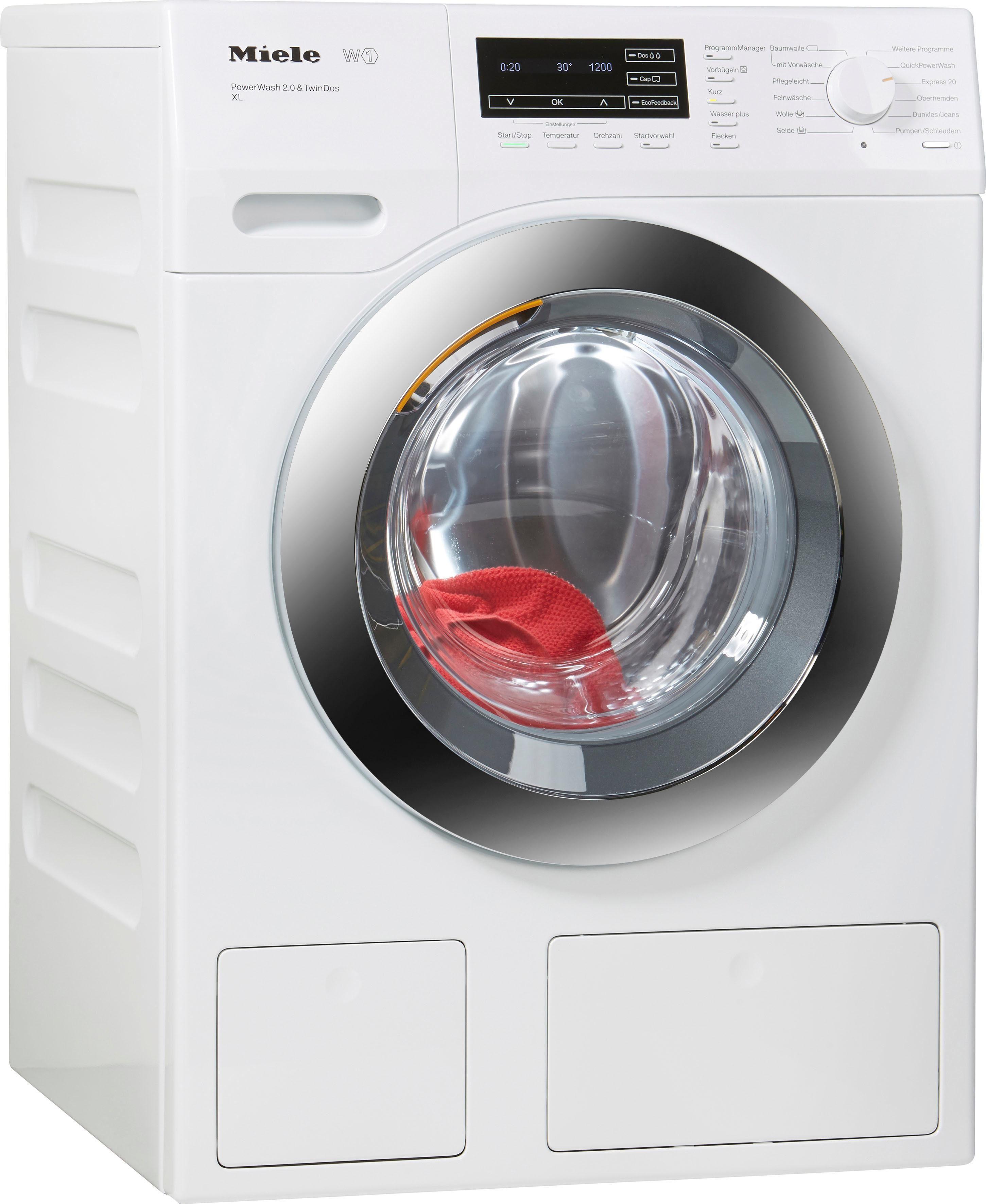 MIELE Waschmaschine WKH132WPS D LW PWash 2.0 & TDos XL, A+++, 9 kg, 1600 U/Min