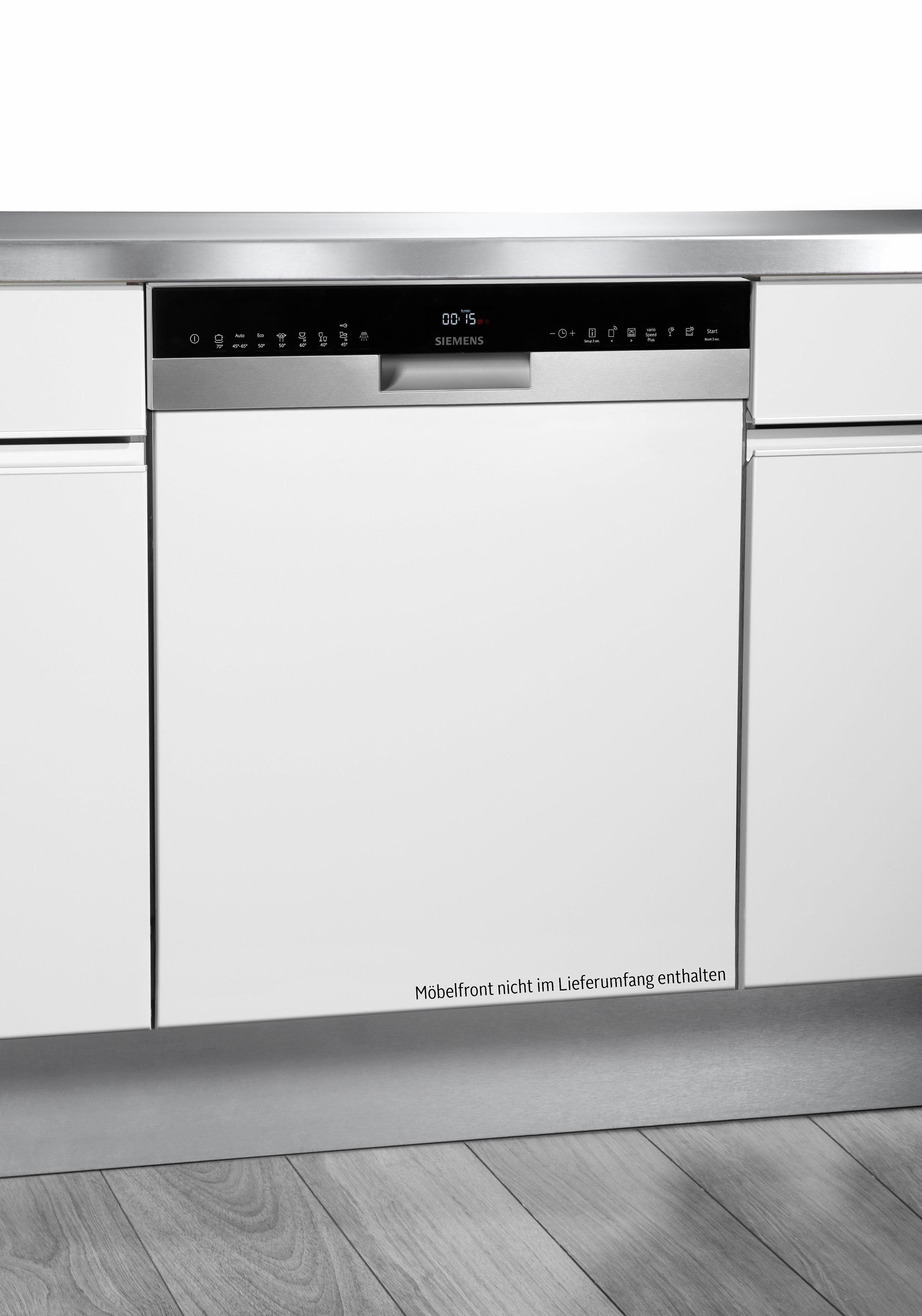 SIEMENS teilintegrierbarer Geschirrspüler iQ500, iQ500 SN558S06TE, 9,5 l, 14 Maßgedecke, Energieeffizienzklasse A+++