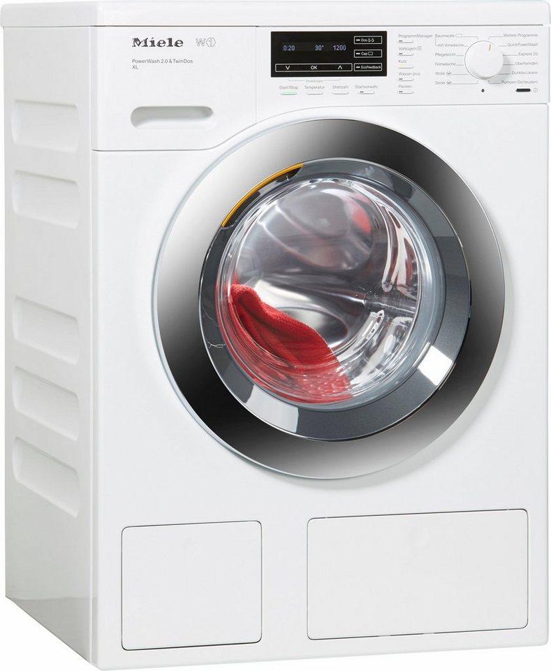 MIELE Waschmaschine WKH122WPS D LW PWash 2.0 & TDos XL, A+++, 9 kg, 1600 U/Min in weiß