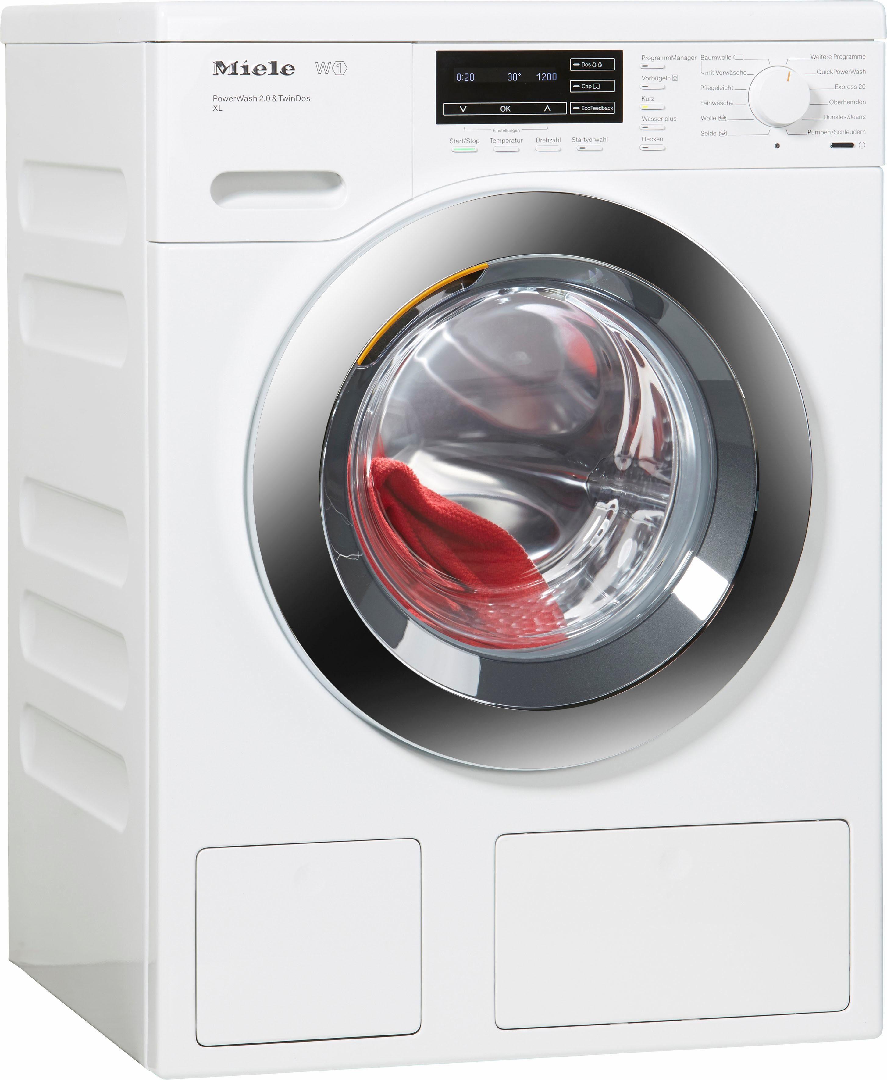 MIELE Waschmaschine WKH122WPS D LW PWash 2.0 & TDos XL, A+++, 9 kg, 1600 U/Min
