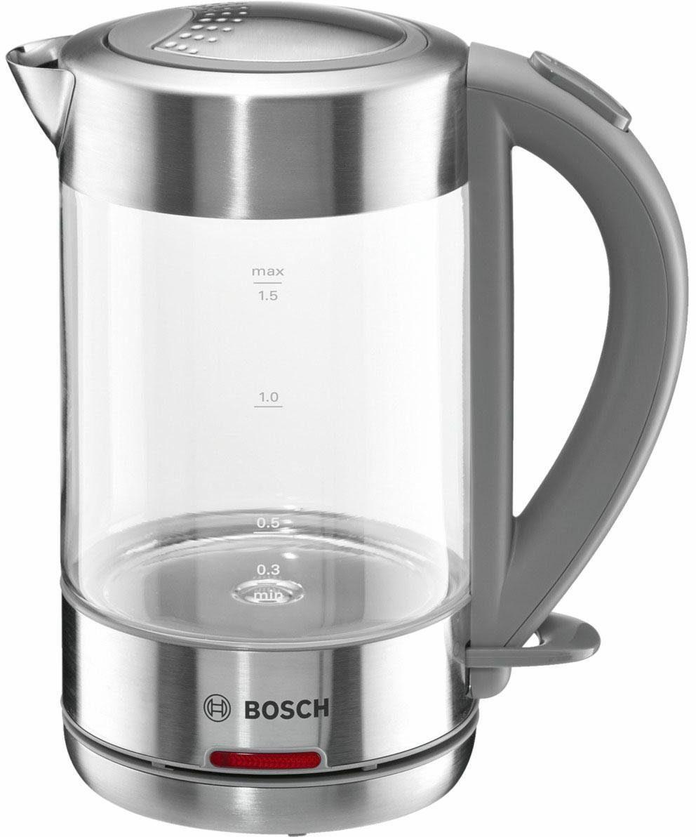 Bosch Wasserkocher Glas, kabellos TWK7090
