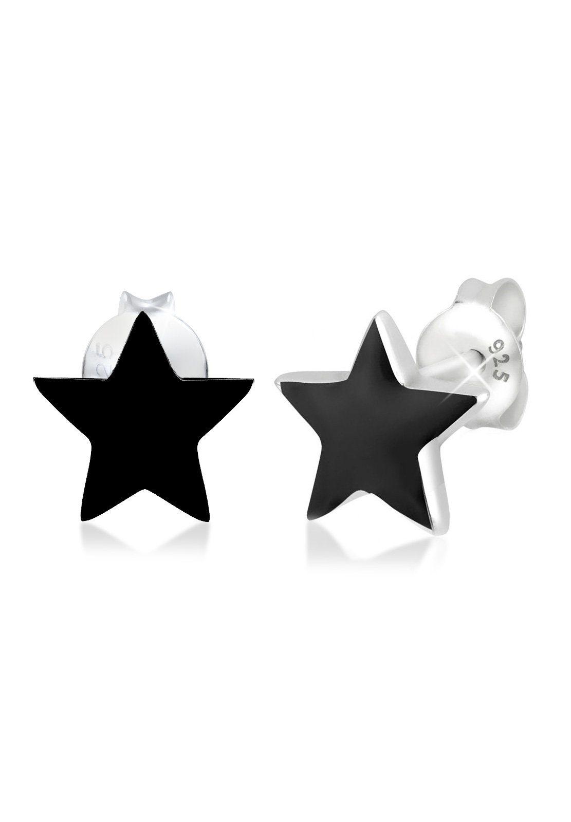 Elli Ohrringe »Stern Sterne Emaille Astro Trend Filigran Silber«