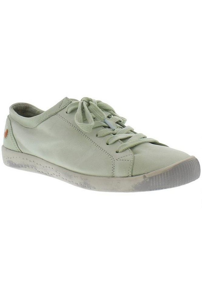 softinos Sneaker low »Isla washed leather SS17« in pastel green